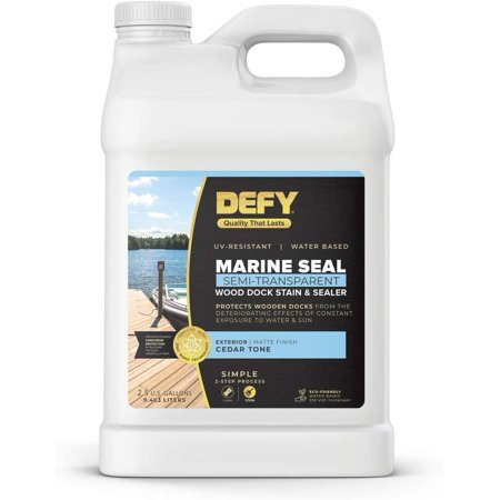 Marine Seal Wood Dock Stain is a long-lasting, semi-transparent dock stain specially formulated for use in the harsh mar MAIN