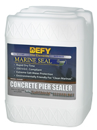 Marine Seal Concrete Pier Sealer provides a tough barrier againist water penetration and salt water erosion.