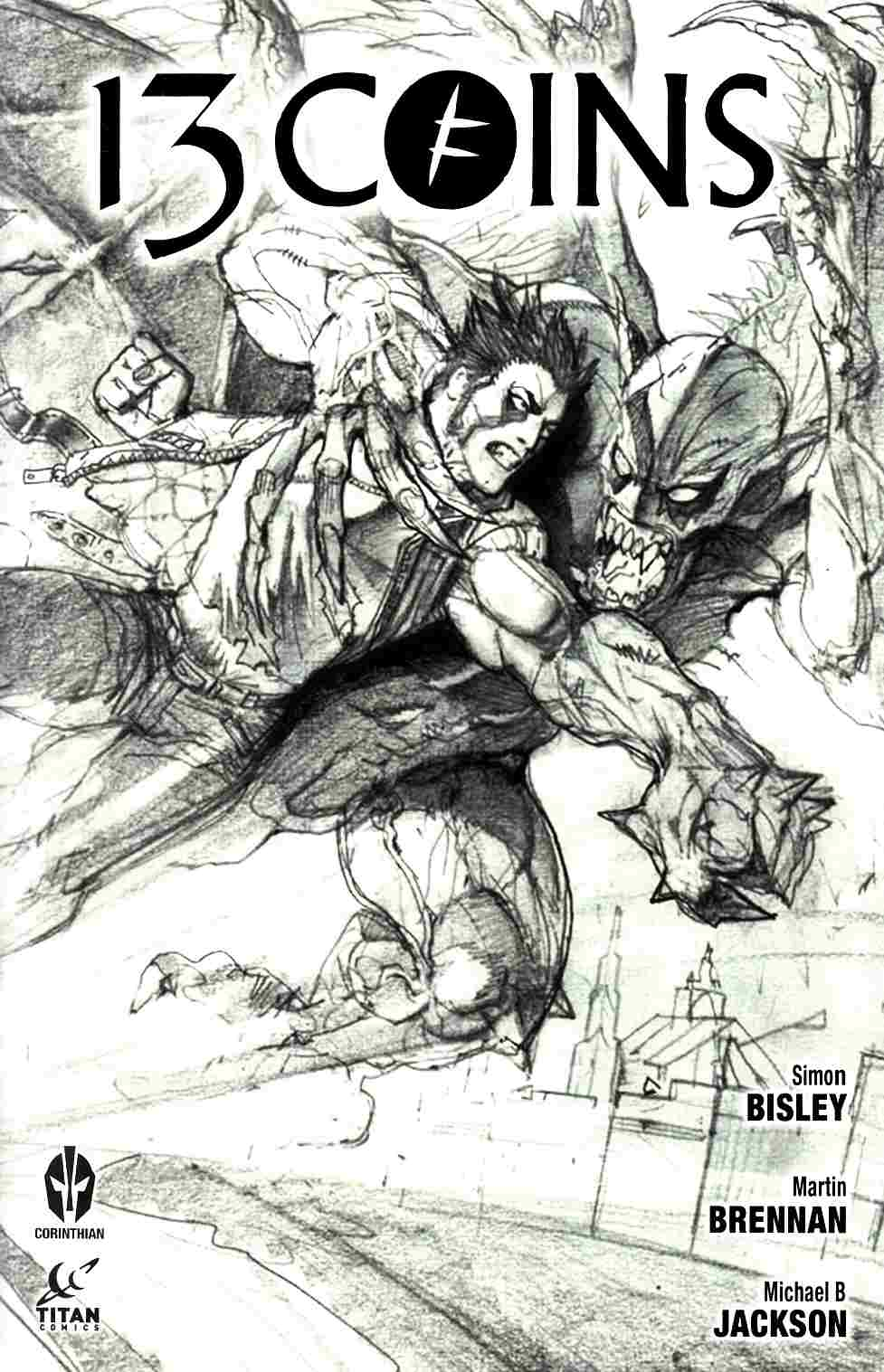 13 Coins #6 Cover B- Bisley Wraparound Sketch [Titan Comic]