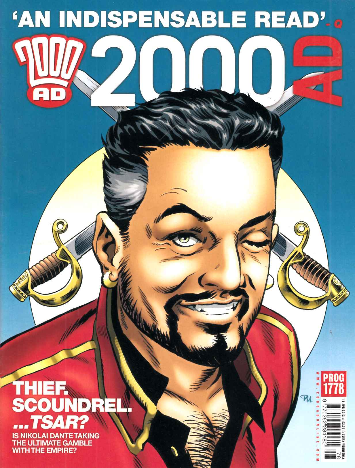 2000 AD #1778 Near Mint Minus (9.2) [Fleetway Comic] LARGE
