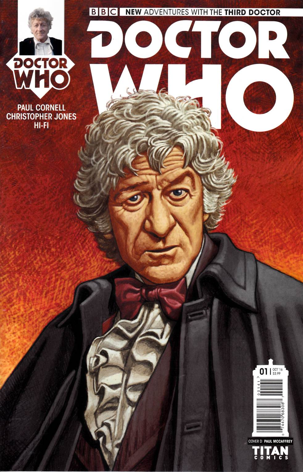 Doctor Who 3rd Doctor #1 Cover D [Titan Comic] THUMBNAIL