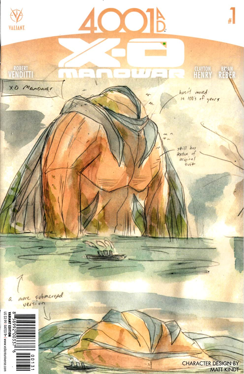 4001 A.D. X-O Manowar #1 Cover C- Character Design Incentive [Valiant Comic]_THUMBNAIL