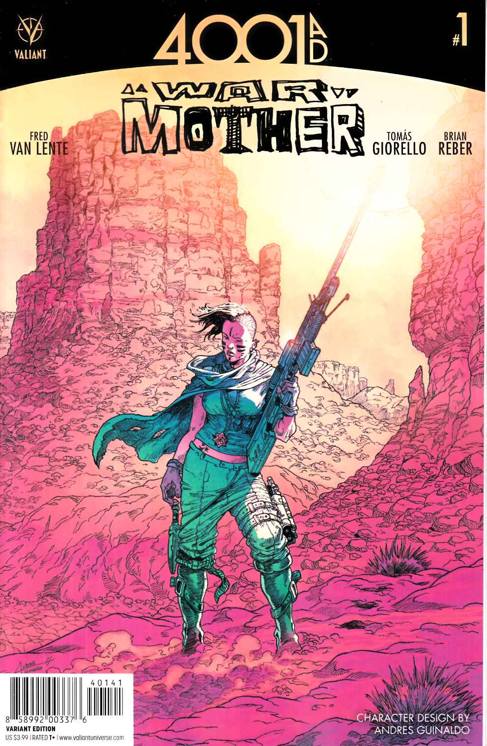 4001 AD War Mother #1 Cover D- Guinaldo Incentive [Valiant Comic]_THUMBNAIL