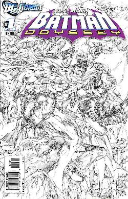 Batman Odyssey Vol 2 #1 Neal Adams B&W Variant Cover [Comic] LARGE