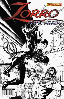 Zorro Rides Again #3 Wagner B&W Incentive Cover [Comic] LARGE