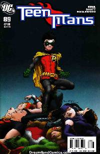 Teen Titans #89 Quitely Variant Cover