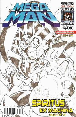 Mega Man #13 Villain Sketch Cover [Comic] LARGE