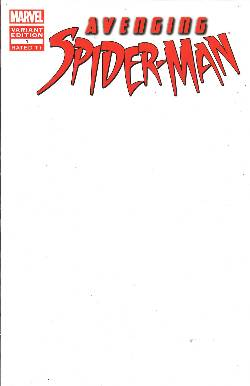 Avenging Spider-Man #1 Blank Variant Cover [Comic]_LARGE
