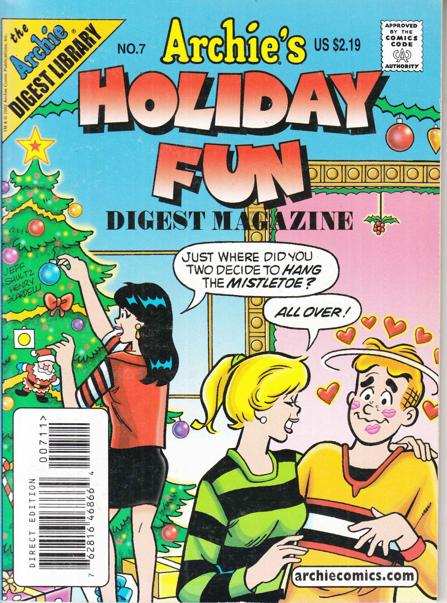 Archies Holiday Fun Digest #7 Near Mint Minus (9.2) [Archie Comic] LARGE