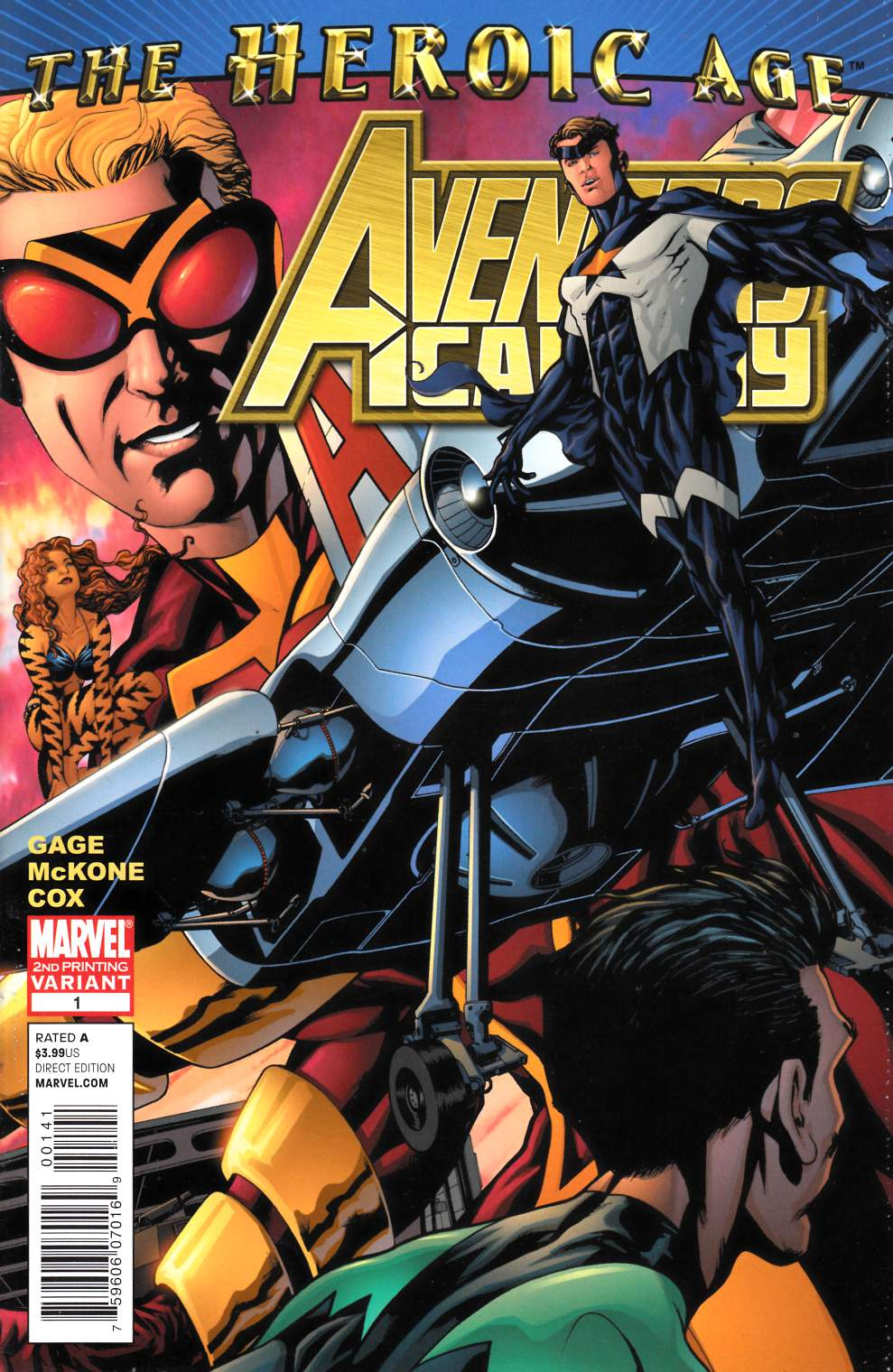 Avengers Academy #1 Second Printing Very Fine (8.0) [Marvel Comic] THUMBNAIL