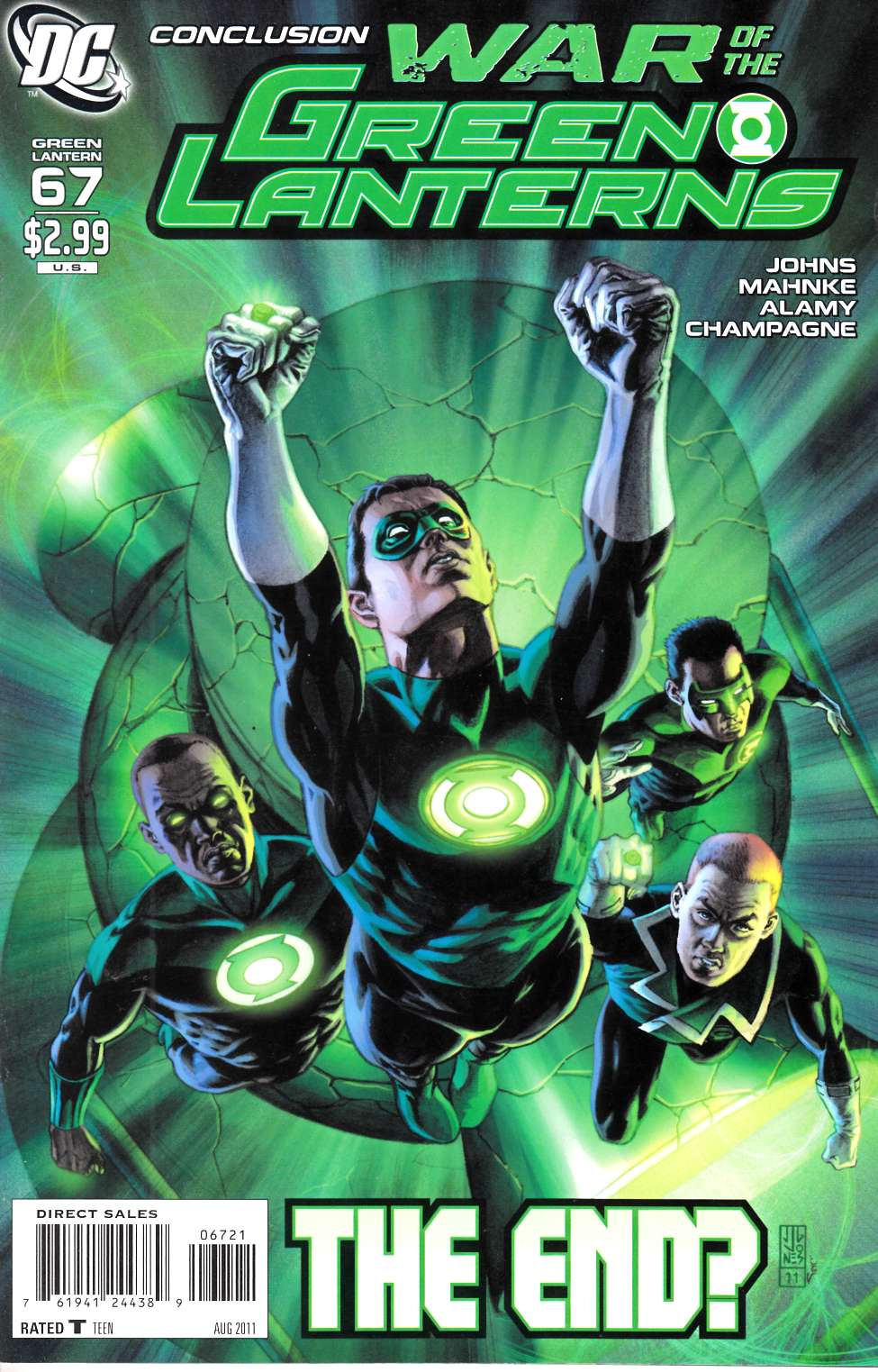 Green Lantern #67 Jones Variant Cover Near Mint (9.4) [DC Comic] THUMBNAIL