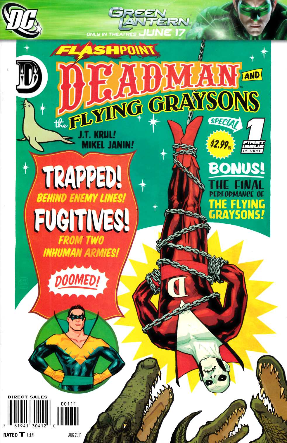 Flashpoint Deadman and the Flying Graysons #1 [DC Comic] Near Mint (9.4)