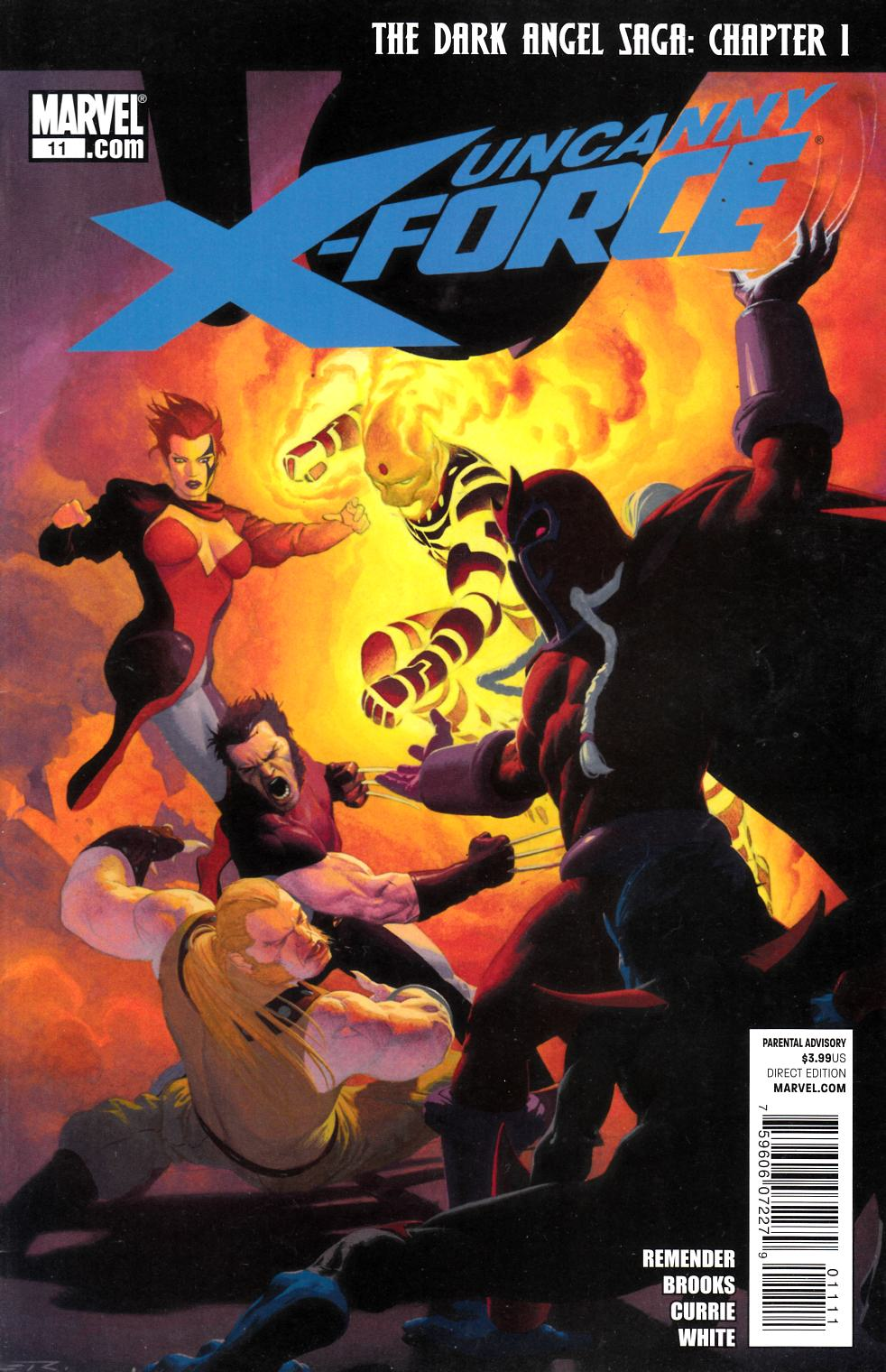 Uncanny X-Force #11 Very Fine (8.0) [Marvel Comic] THUMBNAIL