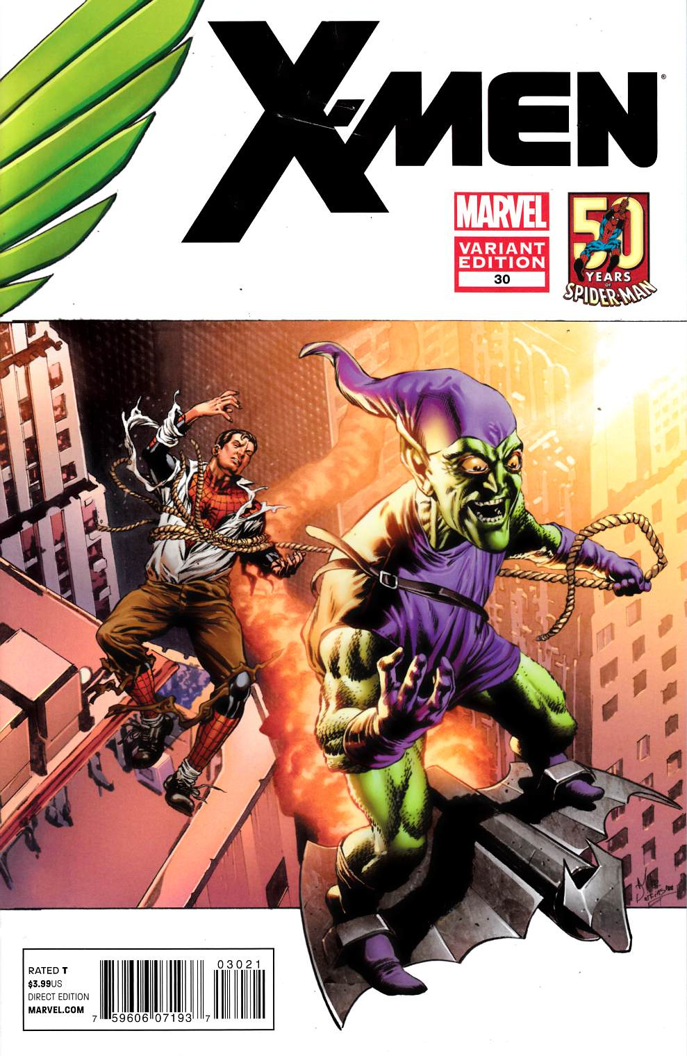 X-Men #30 Spider-Man In Motion Variant Cover Very Good (4.0) [Marvel Comic] THUMBNAIL