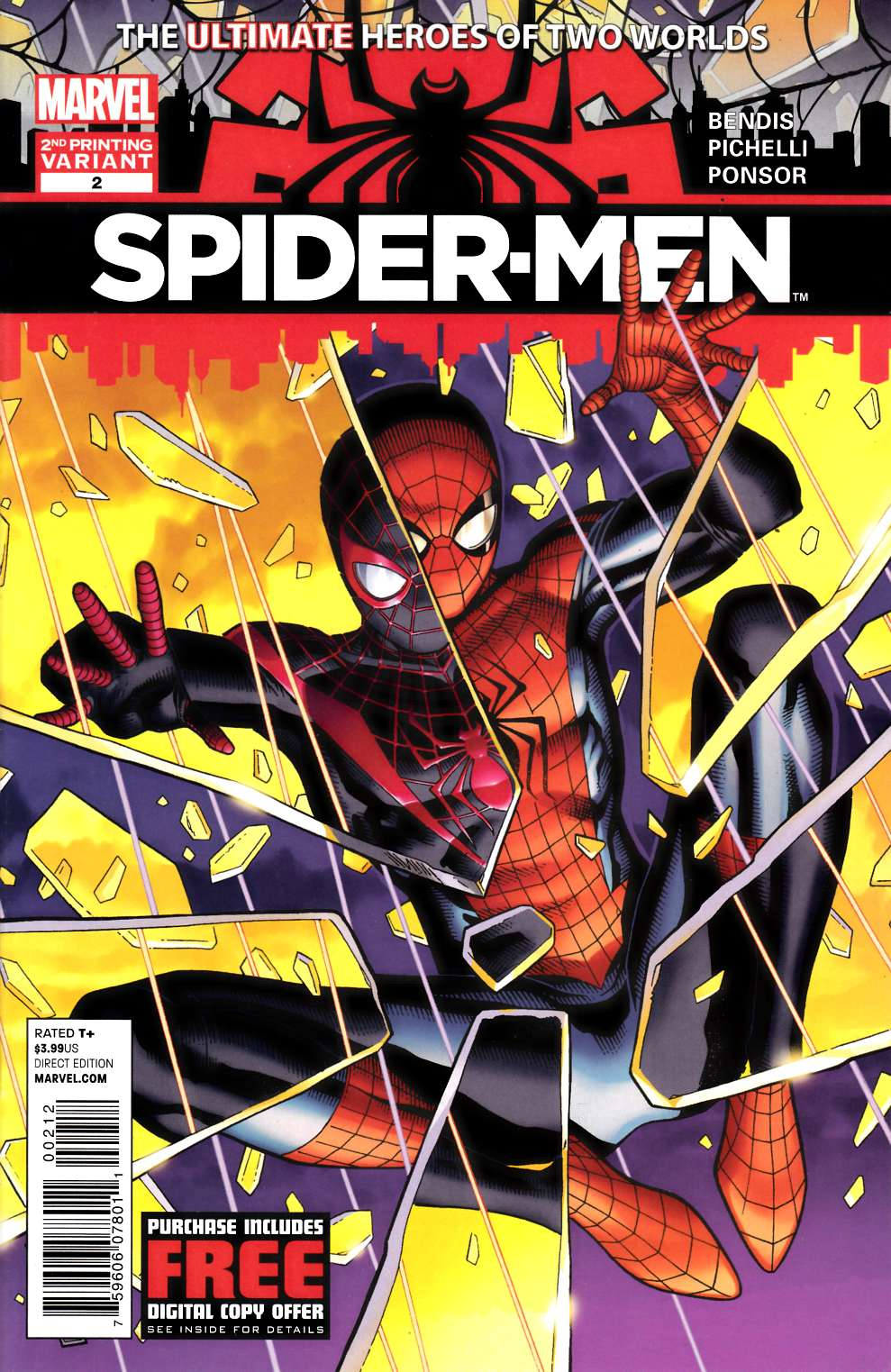 Spider-Men #2 Second Printing Near Mint (9.4) [Marvel Comic] THUMBNAIL