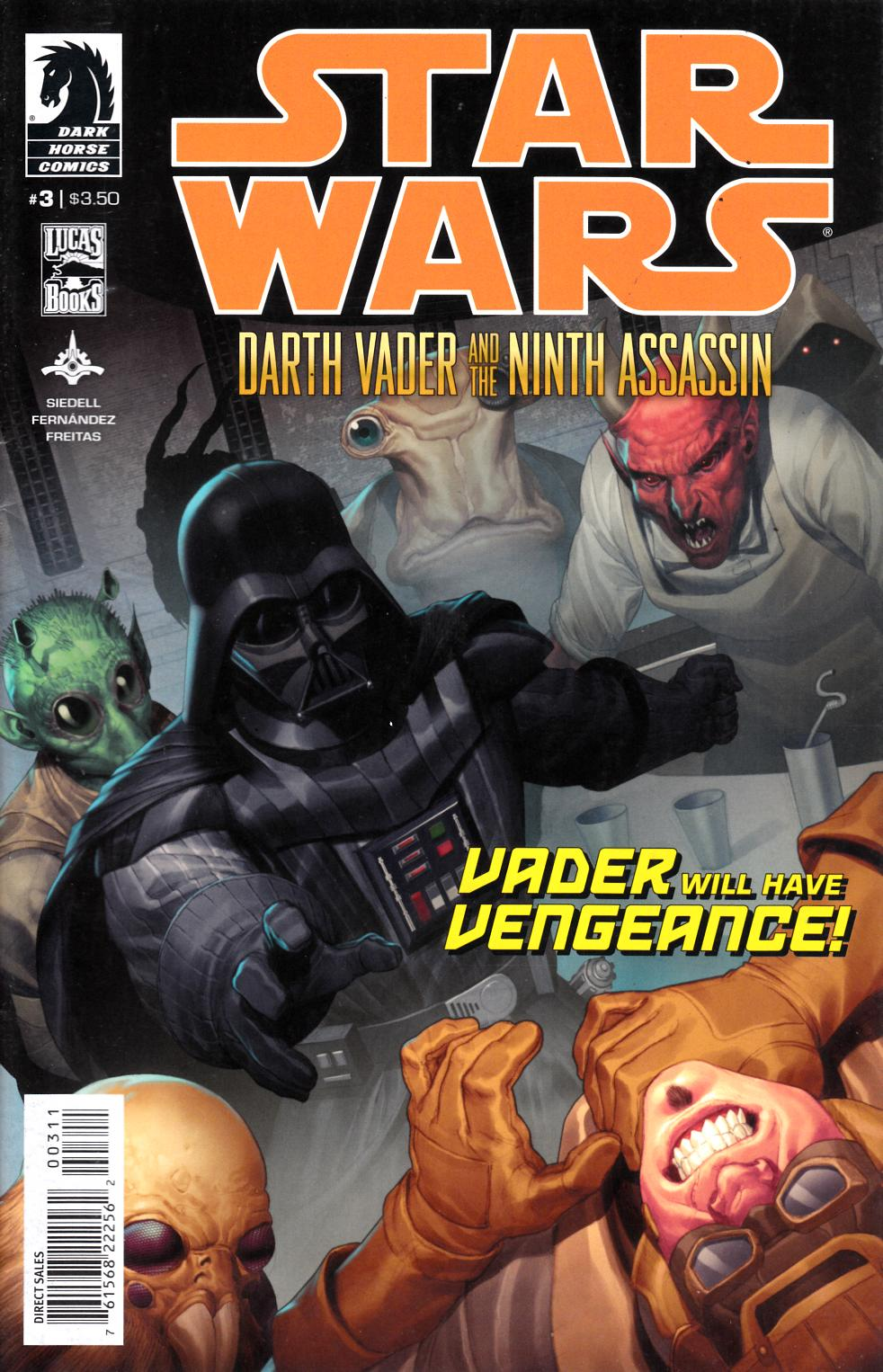 Star Wars Darth Vader & Ninth Assassin #3 Fine (6.0) [Dark Horse Comic] LARGE