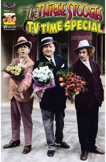 Three Stooges TV Time (One Shot) Photo Cover [American Myth Comic] THUMBNAIL