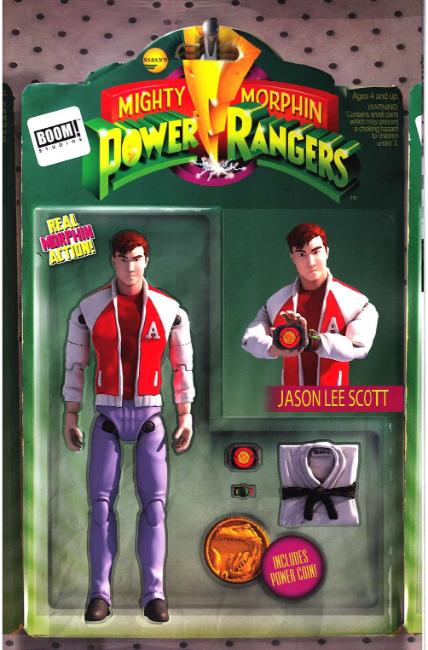 Mighty Morphin Power Rangers #16 Unlock Action Figure Cover [Boom Comic] THUMBNAIL