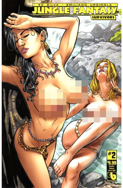 Jungle Fantasy Survivors #2 Swelter Topless Cover [Boundless Comic] THUMBNAIL