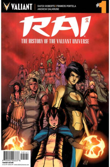 Rai History of the Valiant Universe #1 Cover D- Gill Incentive [Valiant Comic] THUMBNAIL