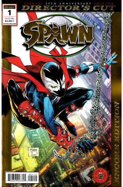 Spawn #1 25th Anniversary Directors Cut Near Mint (9.4) Foil Encore Edition [Image Comic] THUMBNAIL