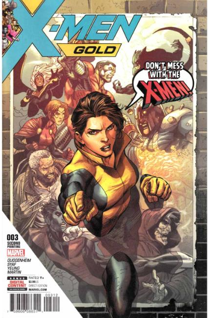 X-Men Gold #3 Second Printing [Marvel Comic]