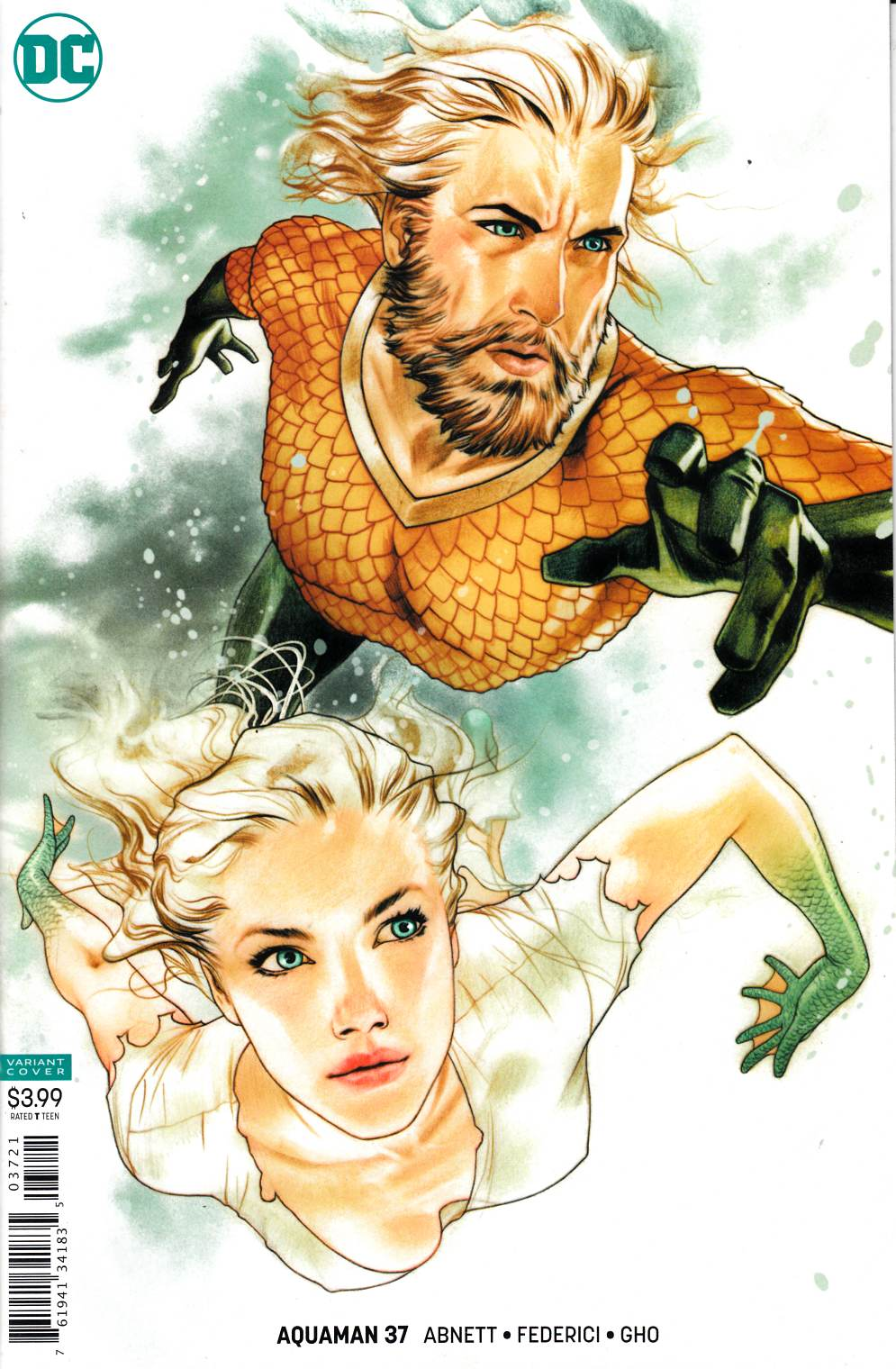 Aquaman #37 Middleton Variant Cover Near Mint (9.4) [DC Comic] LARGE