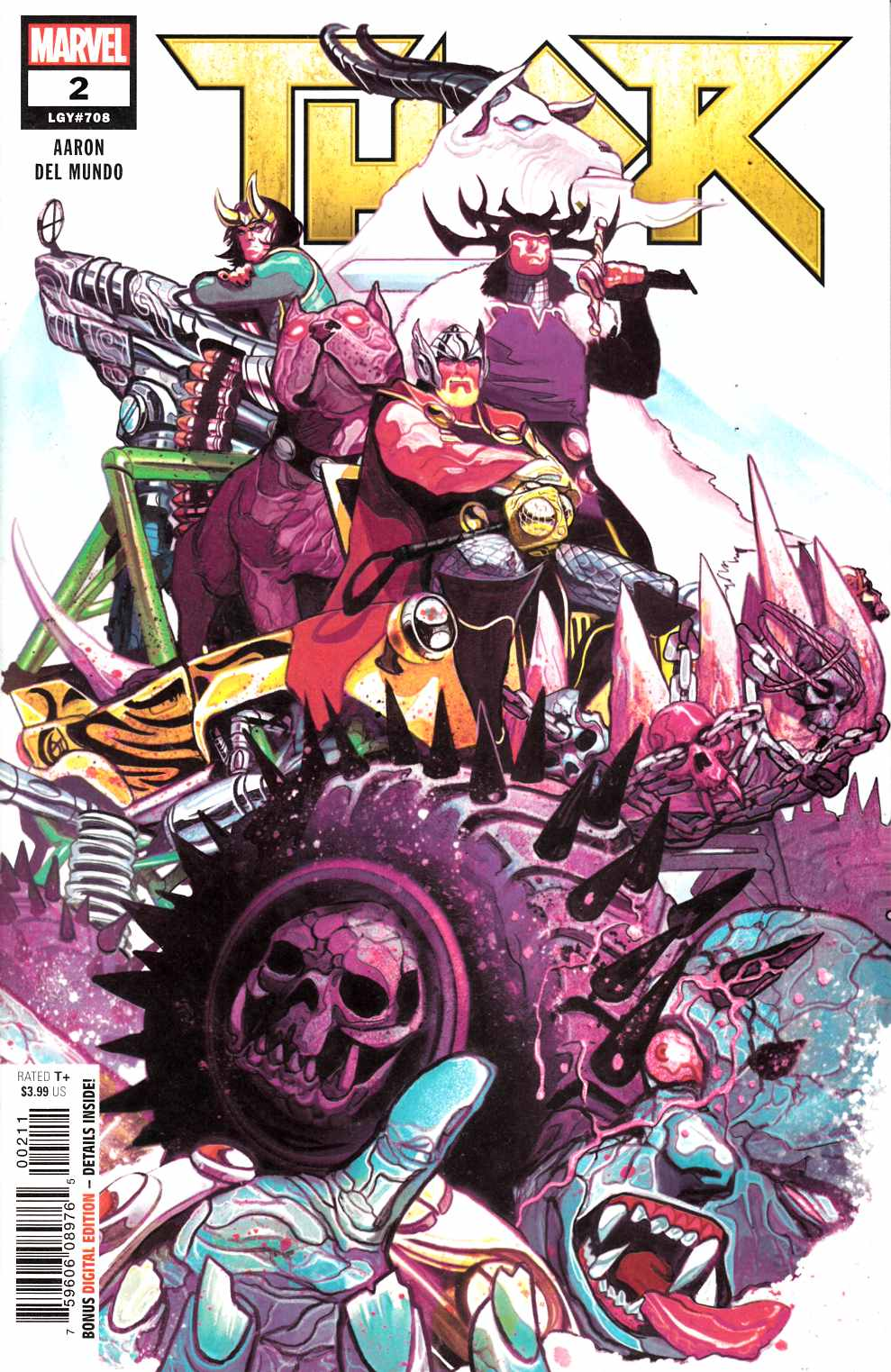 Thor #2 Near Mint (9.4) [Marvel Comic] LARGE