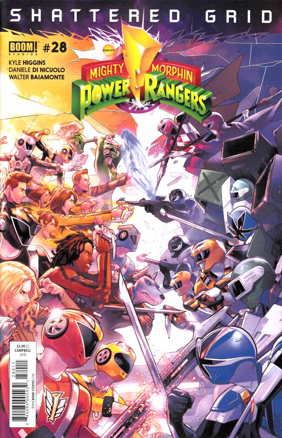 Mighty Morphin Power Rangers #28 Near Mint (9.4) [Boom Comic] LARGE