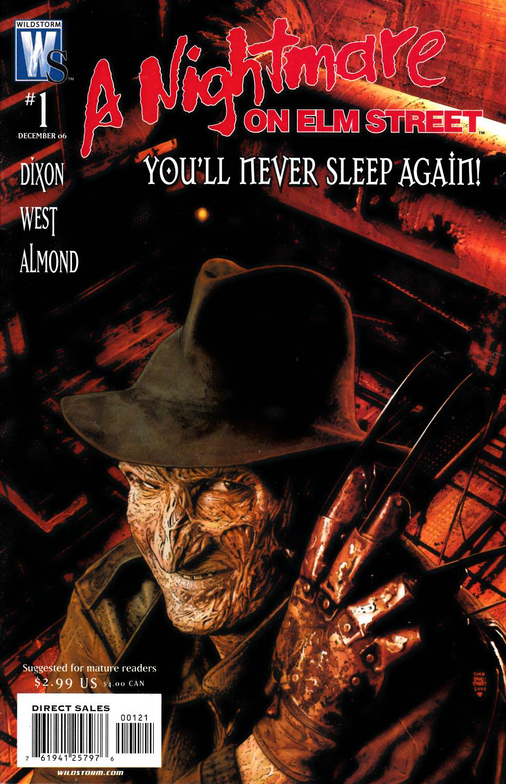 Nightmare On Elm Street #1 Bradstreet Variant Cover Fine (6.0) [DC Comic] THUMBNAIL