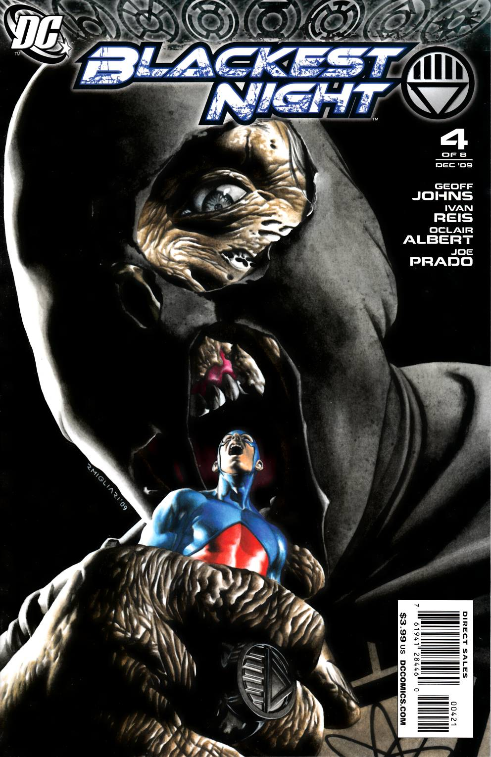 Blackest Night #4 Van Sciver Variant Cover Near Mint (9.4) [DC Comic] LARGE