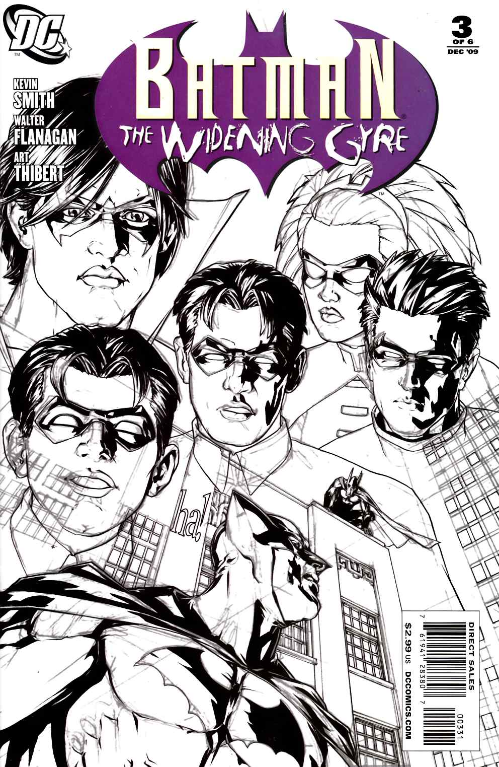 Batman Widening Gyre #3 Ha Sketch Variant Cover Near Mint (9.4) [DC Comic] LARGE