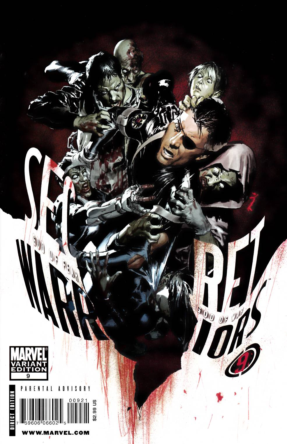 Secret Warriors #9 Parel Zombie Variant Cover Near Mint (9.4) [Marvel Comic] THUMBNAIL