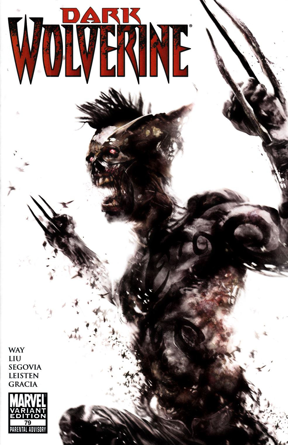 Dark Wolverine #79 Mattina Zombie Variant Cover- Near Mint (9.4) [Marvel Comic] LARGE