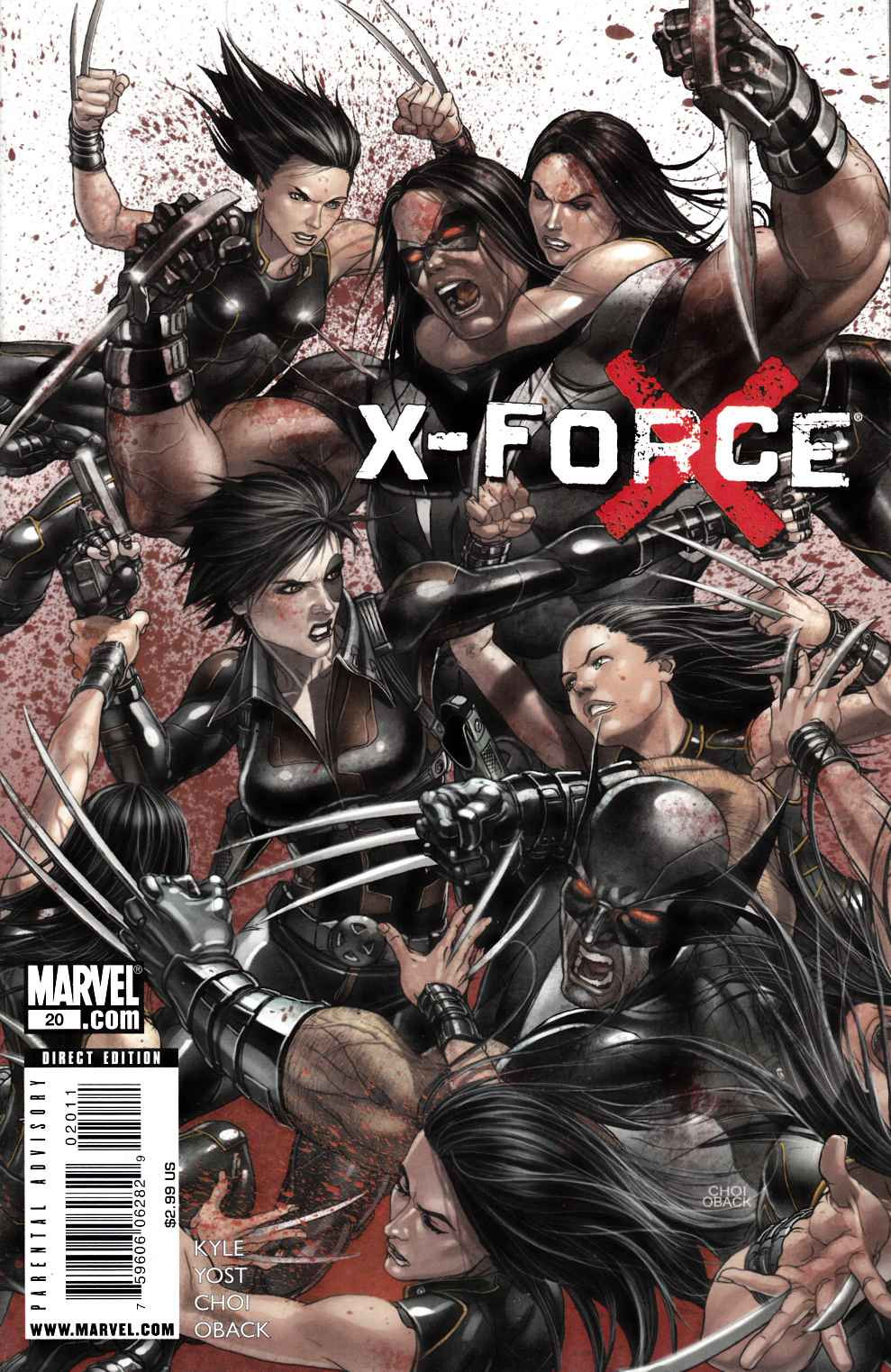 X-Force #20 Near Mint Minus (9.2) [Marvel Comic] LARGE