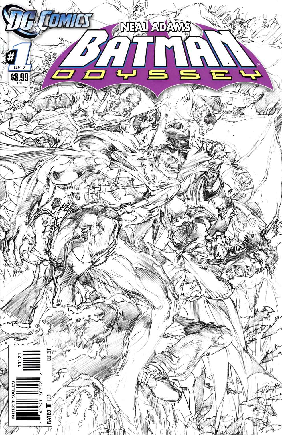 Batman Odyssey Vol 2 #1 Adams B&W Variant Cover Near Mint (9.4) [DC Comic] THUMBNAIL