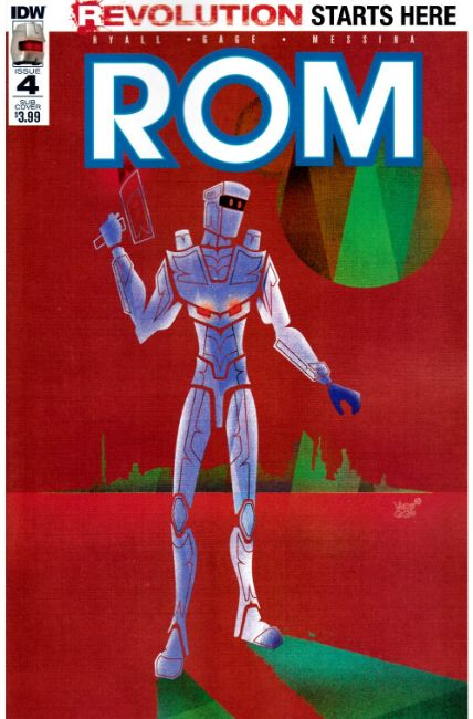 Rom #4 Subscription Cover C [IDW Comic] LARGE