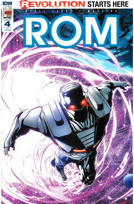 Rom #4 Cover RI [IDW Comic] LARGE