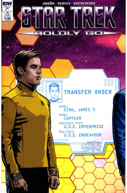 Star Trek Boldly Go #1 Subscription Cover [IDW Comic] THUMBNAIL