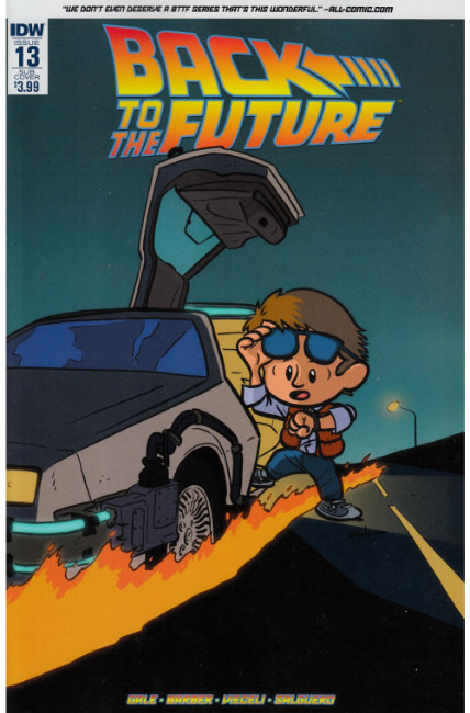 Back to the Future #13 Subscription Cover [IDW Comic] LARGE
