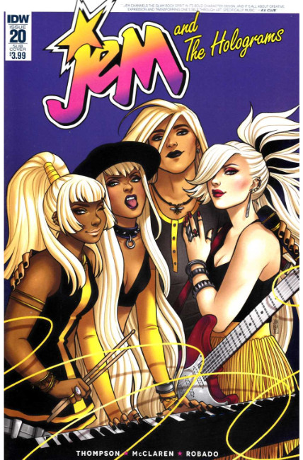 Jem & the Holograms #20 Subscription Cover [IDW Comic] THUMBNAIL