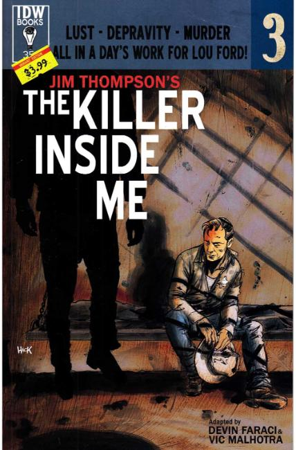 Jim Thompson Killer Inside Me #3 Subscription Cover [IDW Comic] LARGE