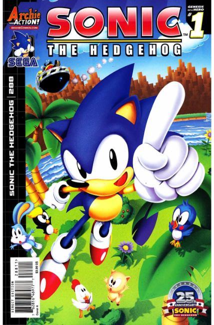 Sonic The Hedgehog 288 Cover A Near Mint 9 4 Archie Comic Dreamlandcomics Com Online Store