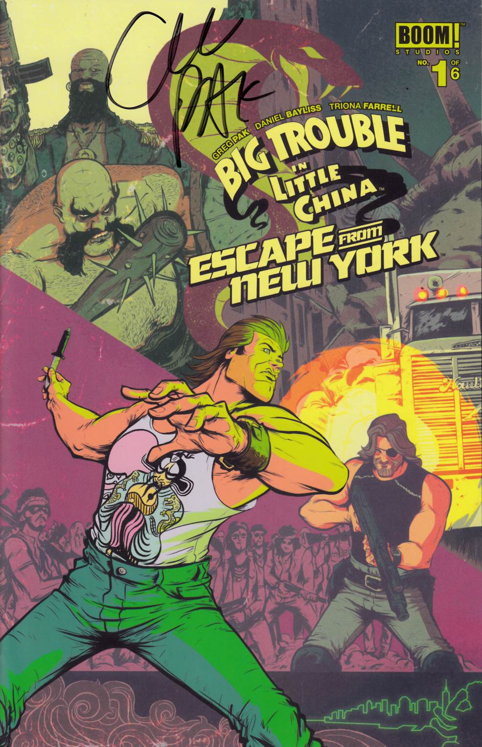Big Trouble In Little China Escape From New York #1 Cover A Signed by Pak [Boom Comic] THUMBNAIL