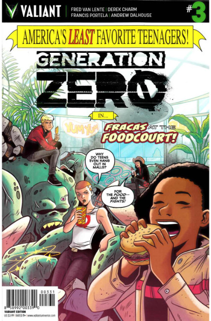 Generation Zero #3 Cover C- Charm Incentive [Valiant Comic] THUMBNAIL