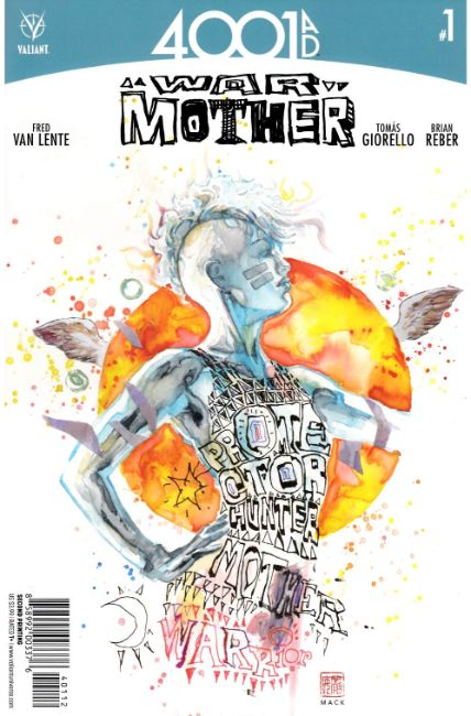 4001 AD War Mother #1 Second Printing [Valiant Comic] LARGE
