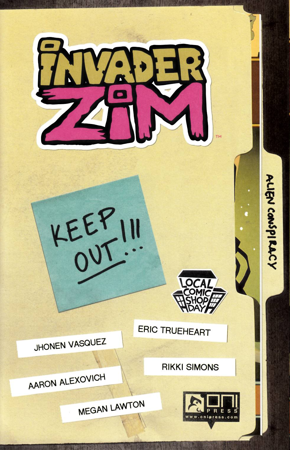 Invader Zim #0 LCSD 2016 [Oni Press Comic] THUMBNAIL