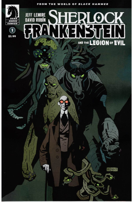 Sherlock Frankenstein & Legion of Evil #1 Mignola Variant Cover [Dark Horse Comic] THUMBNAIL