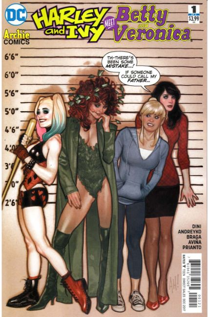 Harley & Ivy Meet Betty & Veronica #1 Hughes Variant Cover [DC Comic] THUMBNAIL