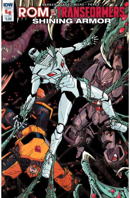 Rom vs Transformers Shining Armor #4 Cover A [IDW Comic]